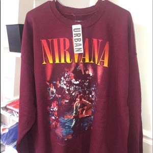 Nirvana Unplugged Oversized Crew Neck Sweatshirt